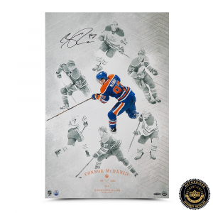 "Connor McDavid Signed ""On The Rise"" 16x24 Photo-0"