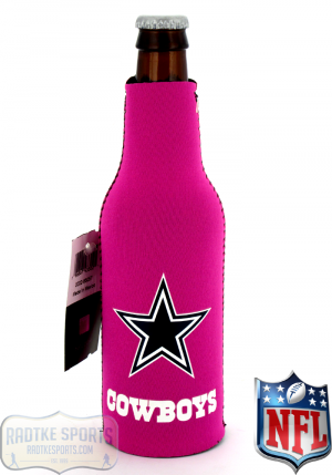 Dallas Cowboys Officially Licensed 12oz Neoprene NFL Can Koozie - Pink-0