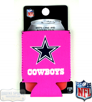 Dallas Cowboys Officially Licensed 12oz Neoprene Can Huggie - Pink-0