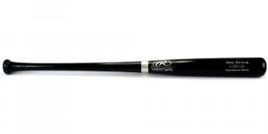 "Rawlings Big Stick Deluxe MLB Black Bat with ""Bobby Cox"" Engraving - Atlanta Braves-0"
