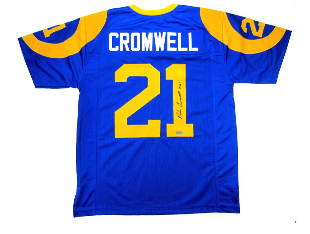 Nolan Cromwell Signed Los Angeles Rams Custom Blue Jersey