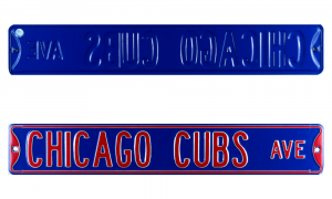 Chicago Cubs Avenue Officially Licensed Authentic Steel 36x6 Blue & Red MLB Street Sign-0