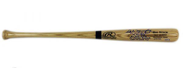 Dale Murphy Signed Atlanta Braves Rawlings Engraved Big Stick Blonde MLB Bat With 5 Career Stats Inscription - LE #333 Of 333-17463