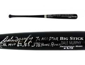 Dale Murphy Signed Atlanta Braves Rawlings Engraved Big Stick Black MLB Bat With Career Stats Inscription - LE #3 Of 13-0