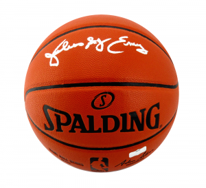 "Julius Erving Signed Spalding Full Size Replica NBA Basketball with ""Dr J"" Inscription-0"