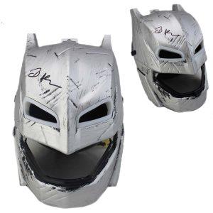 Ben Affleck signed Batman Dawn of Justice Silver Light up Mask-0