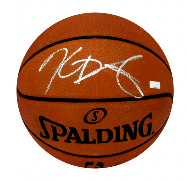 Kevin Durant Signed Oklahoma City Thunder Spalding Authentic NBA Basketball - Silver Ink-9596