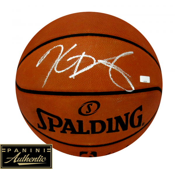Kevin Durant Signed Oklahoma City Thunder Spalding Authentic NBA Basketball - Silver Ink-0