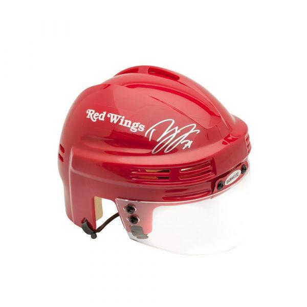 Dylan Larkin Signed Detroit Red Wings Mini Helmet-13846