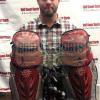 Evan Gattis Signed MLB Atlanta Braves 2013 Game Used Mizuno Catchers Gear Set-26245