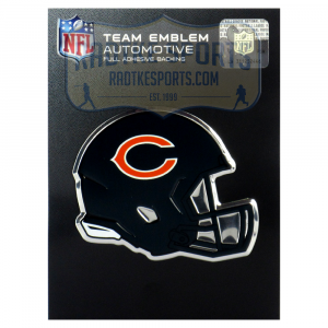 Officially Licensed Chicago Bears Helmet 3x4 NFL Car Emblem with Adhesive Backing-0