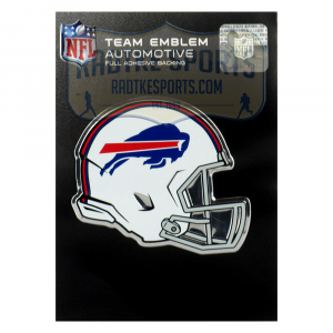 Officially Licensed Buffalo Bills Helmet 3x4 NFL Car Emblem with Adhesive Backing-0