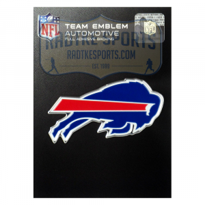 Officially Licensed Buffalo Bills Logo 3x4 NFL Car Emblem with Adhesive Backing-0