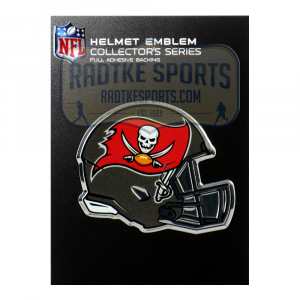 Officially Licensed Tampa Bay Buccaneers Helmet 3x4 NFL Car Emblem with Adhesive Backing-0