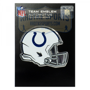 Officially Licensed Indianapolis Colts Helmet 3x4 NFL Car Emblem with Adhesive Backing-0