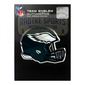 Officially Licensed Philadelphia Eagles Helmet 3x4 NFL Car Emblem with Adhesive Backing-0