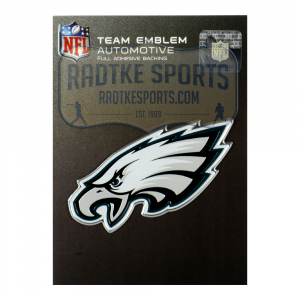 Officially Licensed Philadelphia Eagles Logo 3x4 NFL Car Emblem with Adhesive Backing-0
