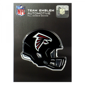 Officially Licensed Atlanta Falcons Helmet 3x4 NFL Car Emblem with Adhesive Backing-0