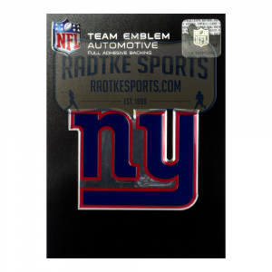 Officially Licensed New York Giants Logo 3x4 NFL Car Emblem with Adhesive Backing-0