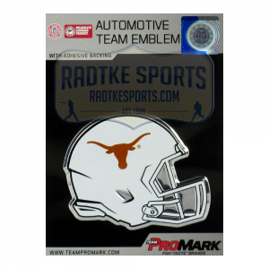 Officially Licensed Texas Longhorns Helmet 3x4 NCAA Car Emblem with Adhesive Backing-0