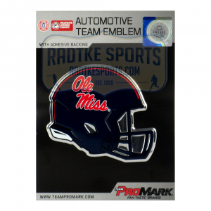 Officially Licensed Ole Miss Rebels Helmet 3x4 NCAA Car Emblem with Adhesive Backing-0