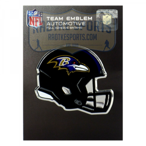 Officially Licensed Baltimore Ravens Helmet 3x4 NFL Car Emblem with Adhesive Backing-0