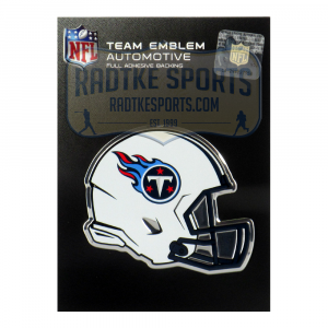 Officially Licensed Tennessee Titans Helmet 3x4 NFL Car Emblem with Adhesive Backing-0