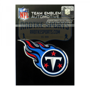 Officially Licensed Tennessee Titans Logo 3x4 NFL Car Emblem with Adhesive Backing-0