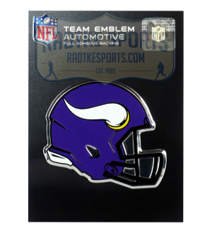 Officially Licensed Minnesota Vikings Helmet 3x4 NFL Car Emblem with Adhesive Backing-0