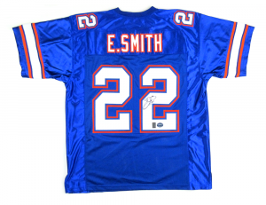 Emmitt Smith Signed Florida Gators Blue Custom Jersey-0