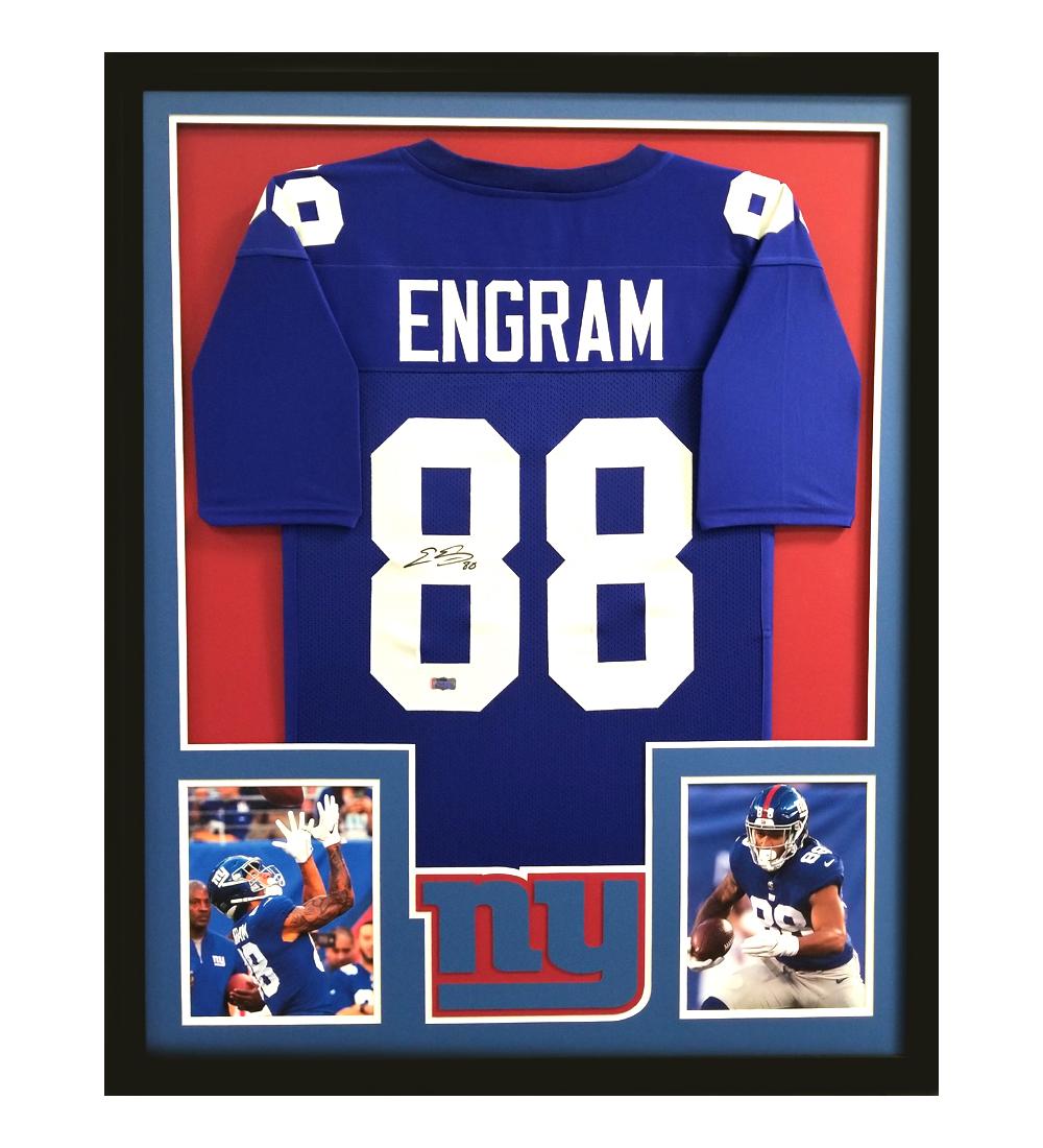 Top Evan Engram Signed New York Giants Framed Blue Custom Jersey  supplier