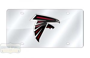 Atlanta Falcons Officially Licensed NFL Laser Tag Mirror License Plate-0