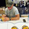 """Brett Favre Signed Green Bay Packers Riddell NFL Mini Helmet with """"4 Retired 7/18/15"""" Inscription - LE #44 of 44-10831"""