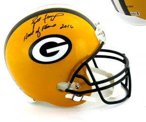 "Brett Favre Signed Green Bay Packers Riddell Full Size NFL Helmet with ""Hall of Fame 2016"" Inscription - LE #1 of 444-0"