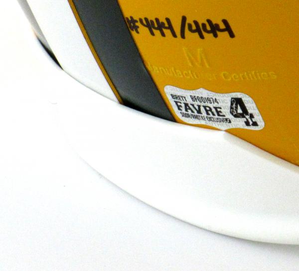 "Brett Favre Signed Green Bay Packers Riddell Full Size NFL Helmet with ""Hall of Fame 2016"" Inscription - LE #444 of 444-9378"
