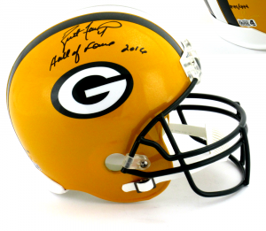"Brett Favre Signed Green Bay Packers Riddell Full Size NFL Helmet with ""Hall of Fame 2016"" Inscription - LE #44 of 444-0"