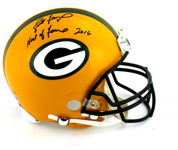 "Brett Favre Signed Green Bay Packers Riddell Authentic NFL Helmet with ""Hall of Fame 2016"" Inscription - LE #144 of 444-9345"