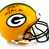 """Brett Favre Signed Green Bay Packers Riddell Authentic NFL Helmet with """"Hall of Fame 2016"""" Inscription - LE #1 of 444-9331"""