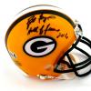 "Brett Favre Signed Green Bay Packers Riddell NFL Mini Helmet with ""Hall of Fame 2016"" Inscription - LE #1 of 444-9411"