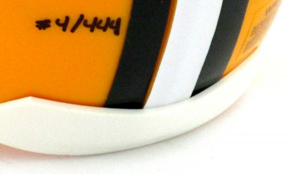 "Brett Favre Signed Green Bay Packers Riddell NFL Mini Helmet with ""Hall of Fame 2016"" Inscription - LE #4 of 444-9417"