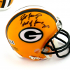 "Brett Favre Signed Green Bay Packers Riddell NFL Mini Helmet with ""Hall of Fame 2016"" Inscription - LE #4 of 444-0"