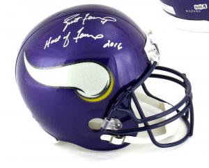 """Brett Favre Signed Minnesota Vikings Riddell Full Size NFL Helmet with """"Hall of Fame 2016"""" Inscription - LE of 444-0"""