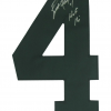 "Brett Favre Signed Green Bay Packers Custom Road White Jersey with ""HOF 16"" Inscription-9477"