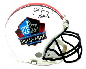 """Brett Favre Signed Riddell Pro Football HOF Authentic Helmet - """"HOF 16""""-0"""