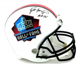 """Brett Favre Signed Riddell Pro Football HOF Full Size Helmet - """"HOF 16""""-0"""