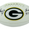 Brett Favre Autographed/Signed Green Bay Packers Logo Football MVPS-12458