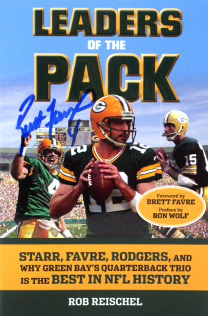 Brett Favre Signed Green Bay Packers Leaders of the Pack Paperback Book-0