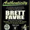 Brett Favre Autographed/Signed Green Bay Packers Logo Football MVPS-12456