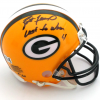 "Brett Favre Signed Green Bay Packers Riddell NFL Mini Helmet with ""Last to Wear 4"" Inscription - LE #1 of 44-0"