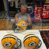 """Brett Favre Signed Green Bay Packers Riddell Authentic NFL Helmet with """"Hall of Fame 2016"""" Inscription - LE #1 of 444-9332"""